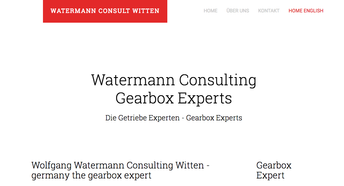Watermann Consult Schiffsgetriebe Industriegetriebe Gearbox Experts